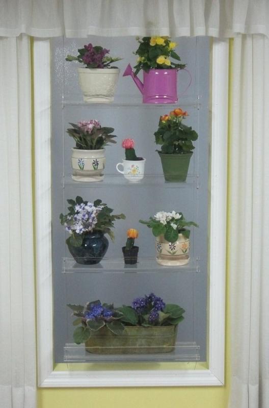 Hanging Window Plant Shelves