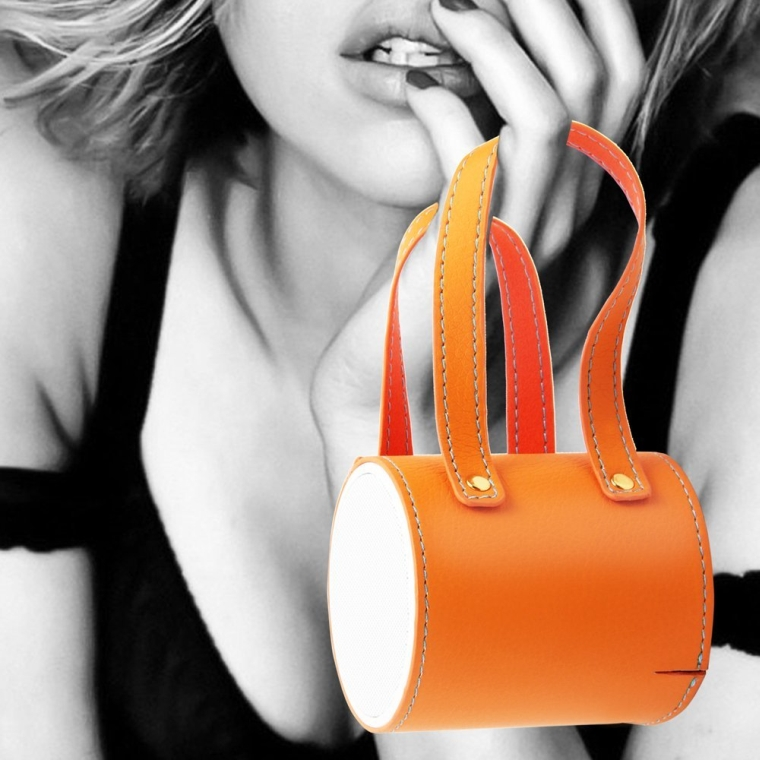 Kate Portable Bluetooth Speaker and Phone Stand Lady's Leather Handbag Design