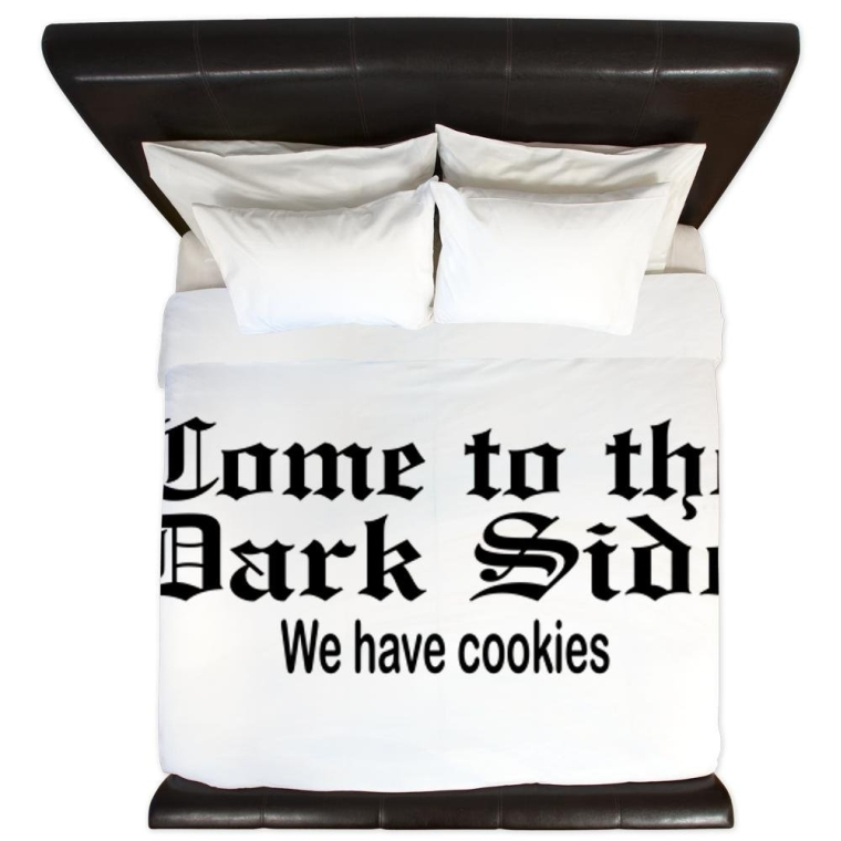 King Duvet Cover Come to the Dark Side We Have Cookies