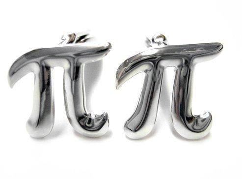 Mathematical Pi Symbol Cufflinks