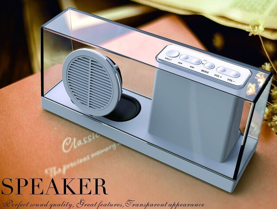 Portable Bluetooth Stereo Speaker with Enhanced Bass Resonator