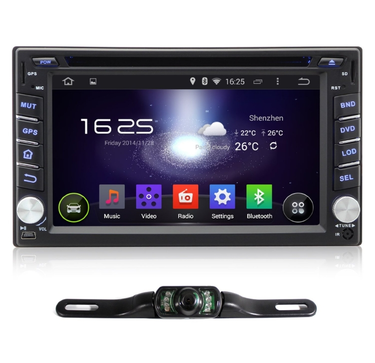 Pumpkin 6.2 inch Android 4.4.4 KitKat Double Din In Dash Capacitive HD Multi-touch Screen Car