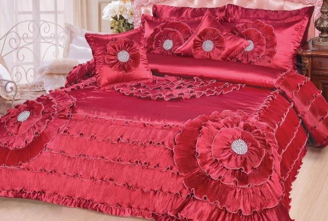 Quinceanera 5-Piece Victorian Satin Comforter Set