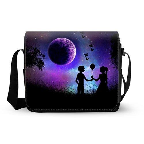 Romantic Under Full Moon Messenger Bag