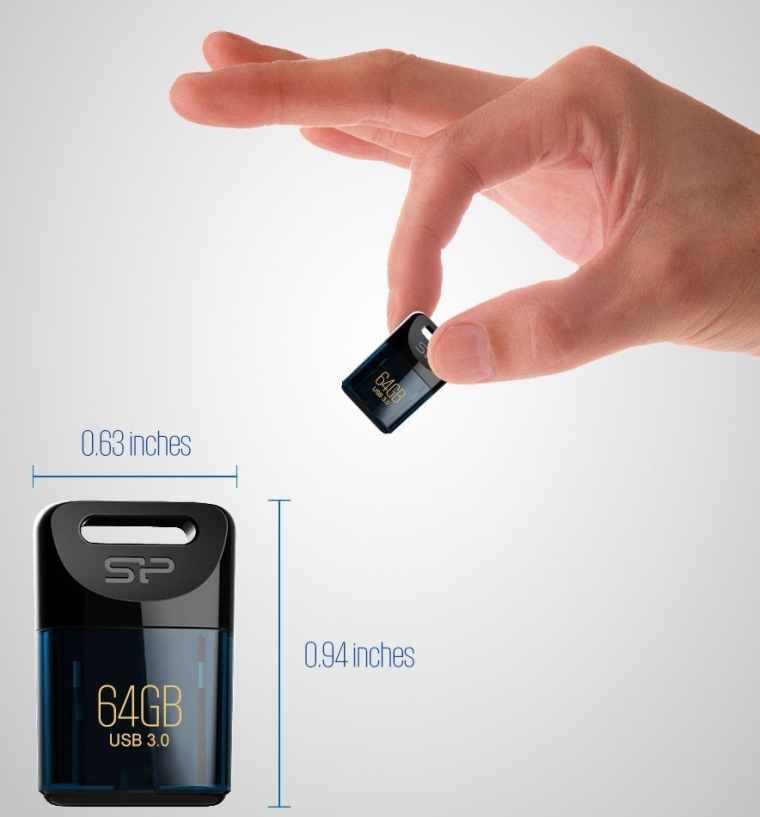 Silicon Power 64GB USB 3.0 J06 Jewel Flash Drive