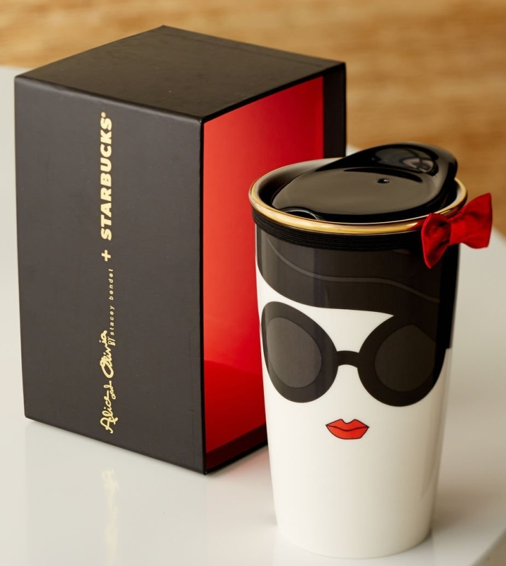 Starbucks Alice + Olivia Double Wall Traveler Mug
