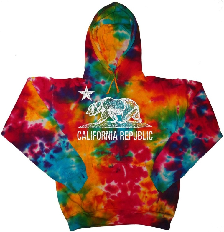 Tie Dye Hoodie California bear sweatshirt