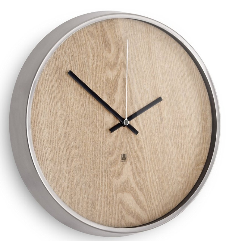 Umbra Metal Wall Decor : Umbra madera wall clock