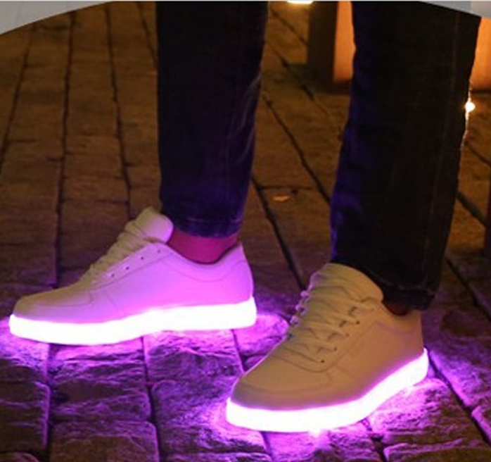 USB Charging LED Lighted Luminous Couple Casual Shoes Women's LED Shoes LED Sneakers