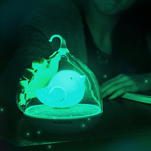 Birdcage LED Night Light Touch Dimmable Lamp