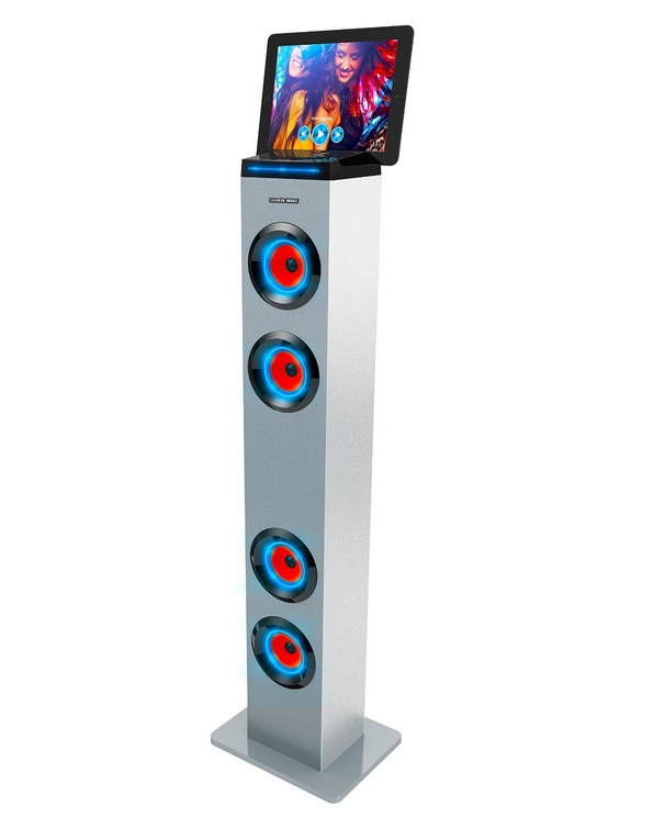 Bluetooth Tall Tower Stereo Speaker with LED Lights