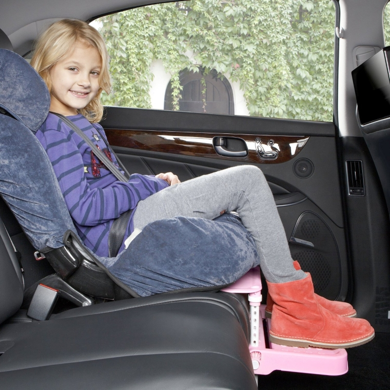 Child Car Seat Footrest and Booster Seat Footrest (Pink)
