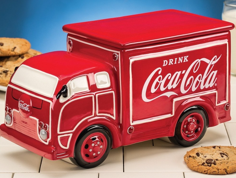 Coca-Cola Coke Delivery Truck Ceramic Cookie Jar