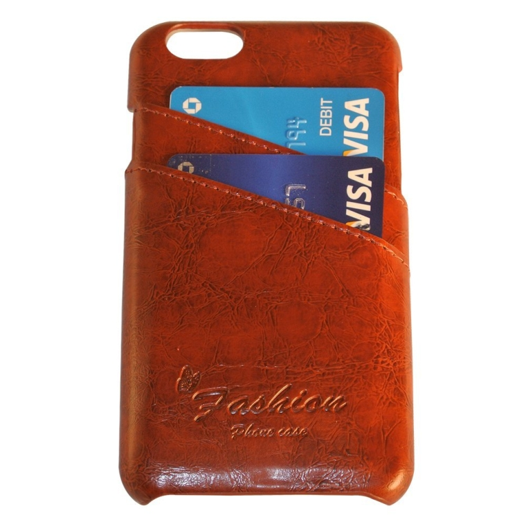 Iphone 6 4.7in Genuine Leather Wallet Case with CC and ID Card Holder