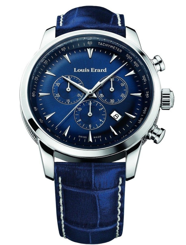 Louis Erard Heritage Collection Swiss Quartz Blue Dial Men's Watch
