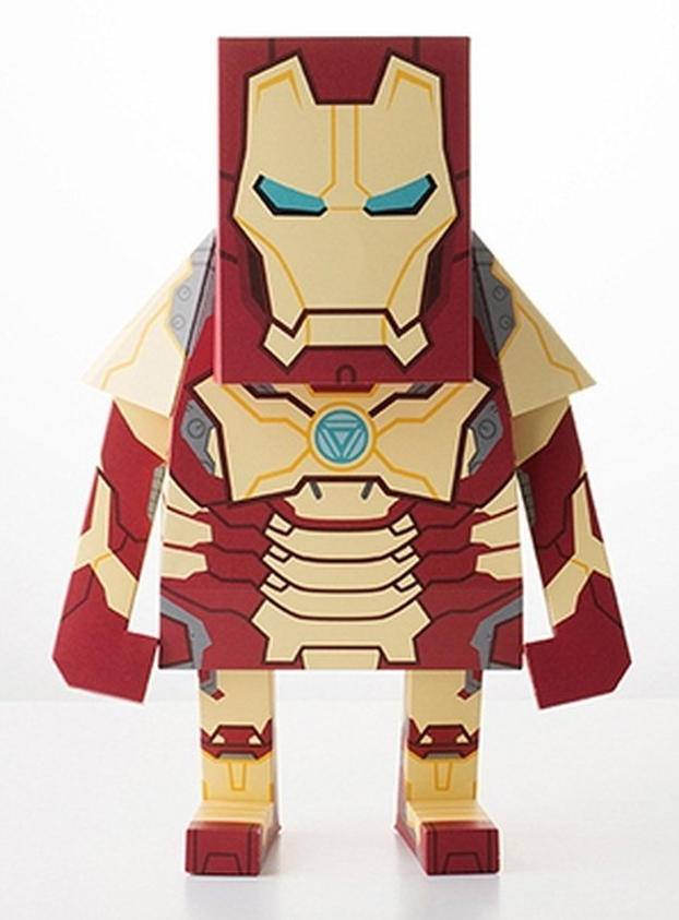 Marvel Hero Paper Craft Figure