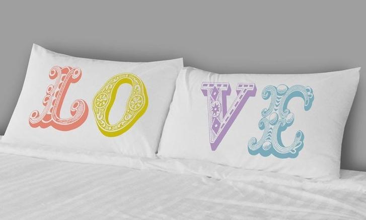 Pillowcases - Love Multicolor