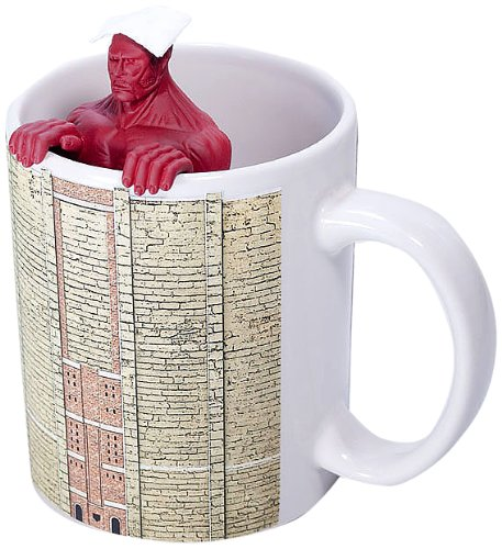 Tea strainer  mugs set of Attack on Titan super-sized giant