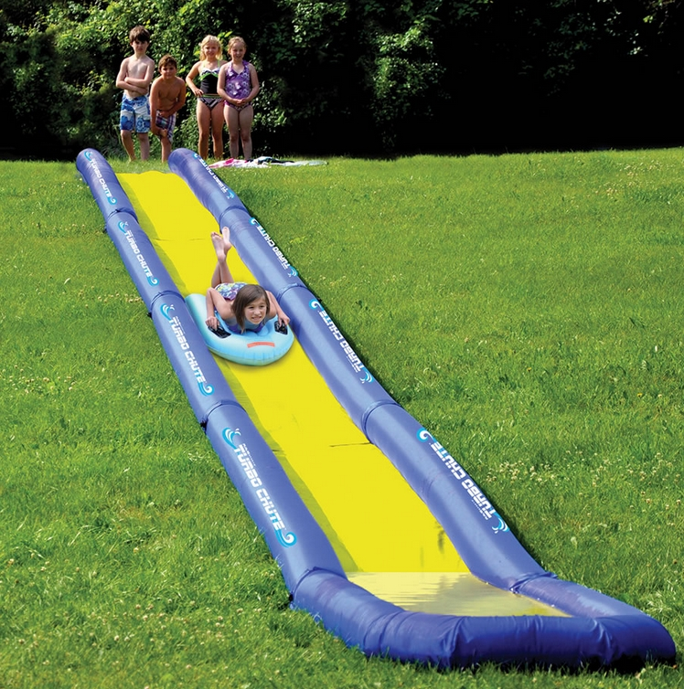 The World's Longest Backyard Water Slide