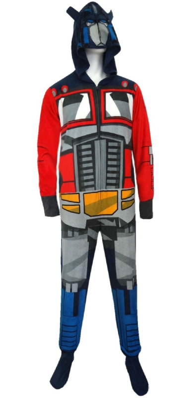 Transformers Optimus Prime Adult One-Piece Hooded Pajama