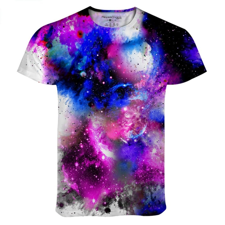Venus Deep Purple Galaxy Cosmos All Over Print T Shirt Tee