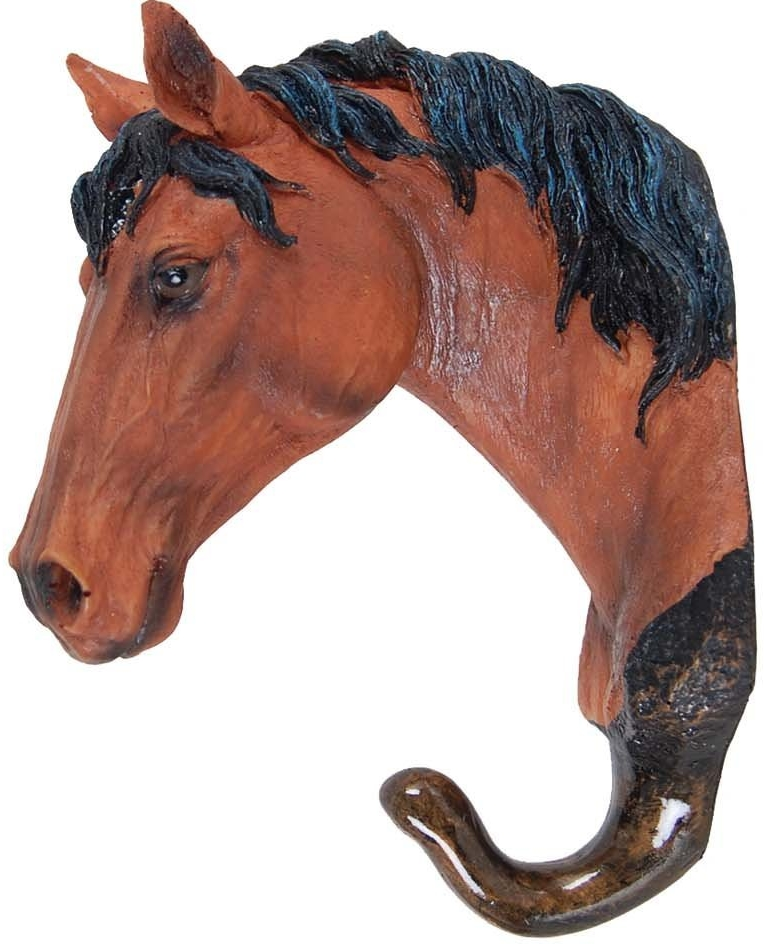 Wall Décor Animal Head Wall Hanging Sculpture w Coat Hanger or Hat Hook Hanger (Horse Head)