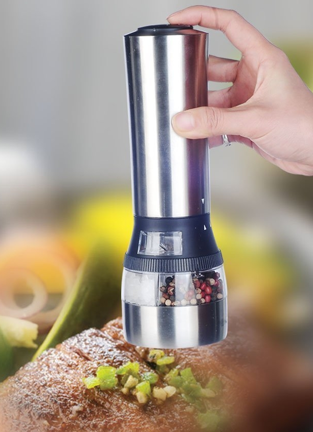 2 In 1 Electric Salt And Pepper Grinder Set