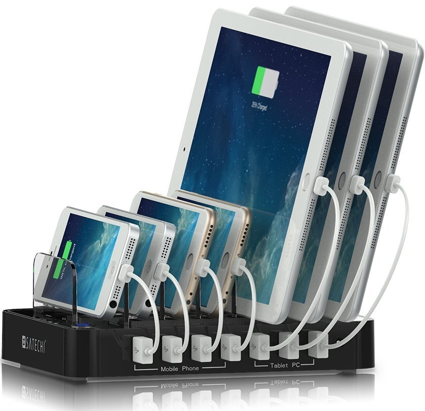 7-Port USB Charging Station Dock for iPhone 6 Plus65S5C54S
