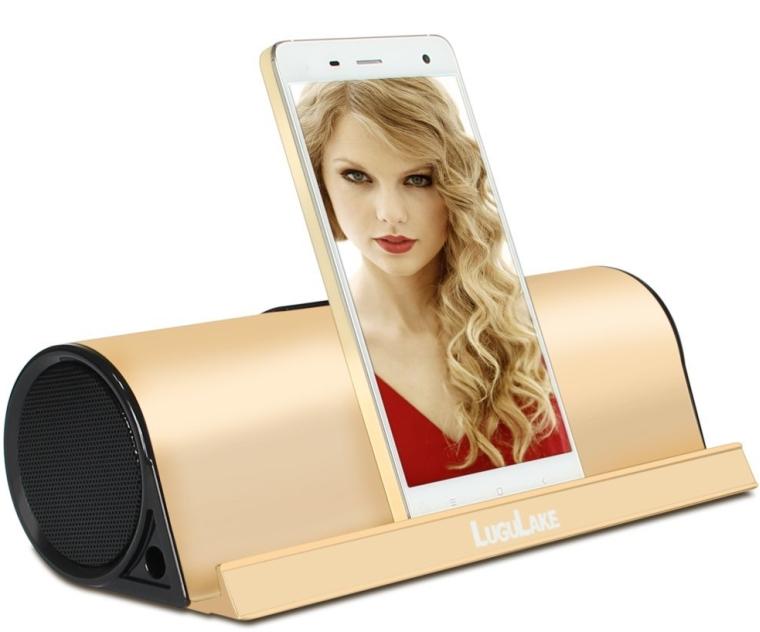 Charge 10Watt Wireless Bluetooth Speaker Built-in 4000mAh Battery Pack wAlumium Stand