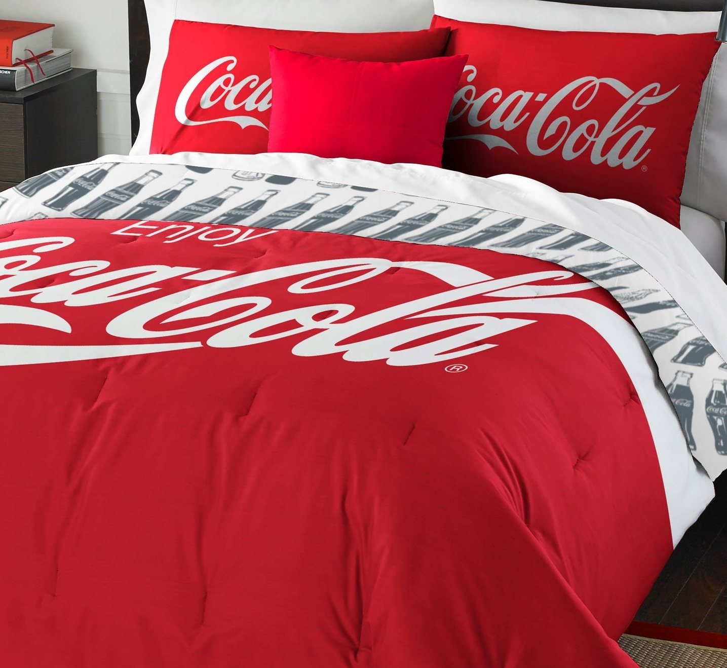 Coca-Cola Logo Twin Bedding Set