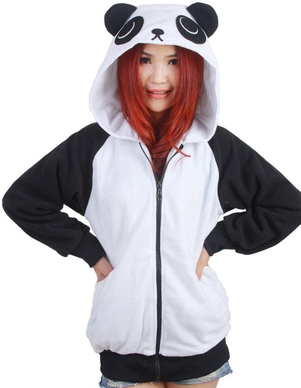 Costumes Women's Chinese Panda Costumes Hoodie