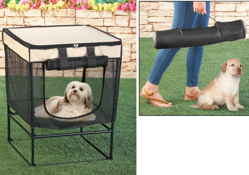 Elevated Portable Pet Kennel Tent