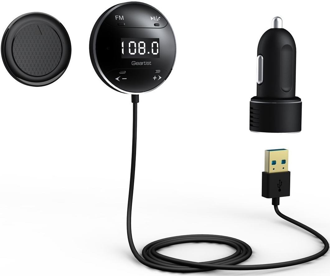 Wireless Bluetooth Car Kit Fm Transmitter With Lcd Screen