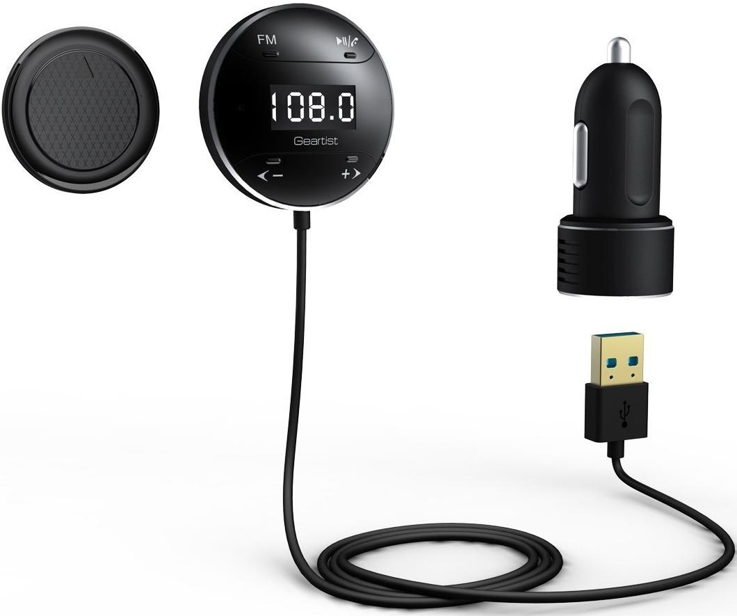 Geartist GB01 Wireless Bluetooth Car Kit FM Transmitter with LCD Screen