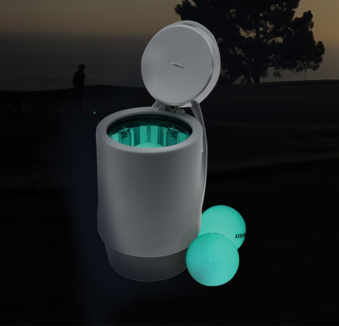 Glowing Golf Balls and Charger