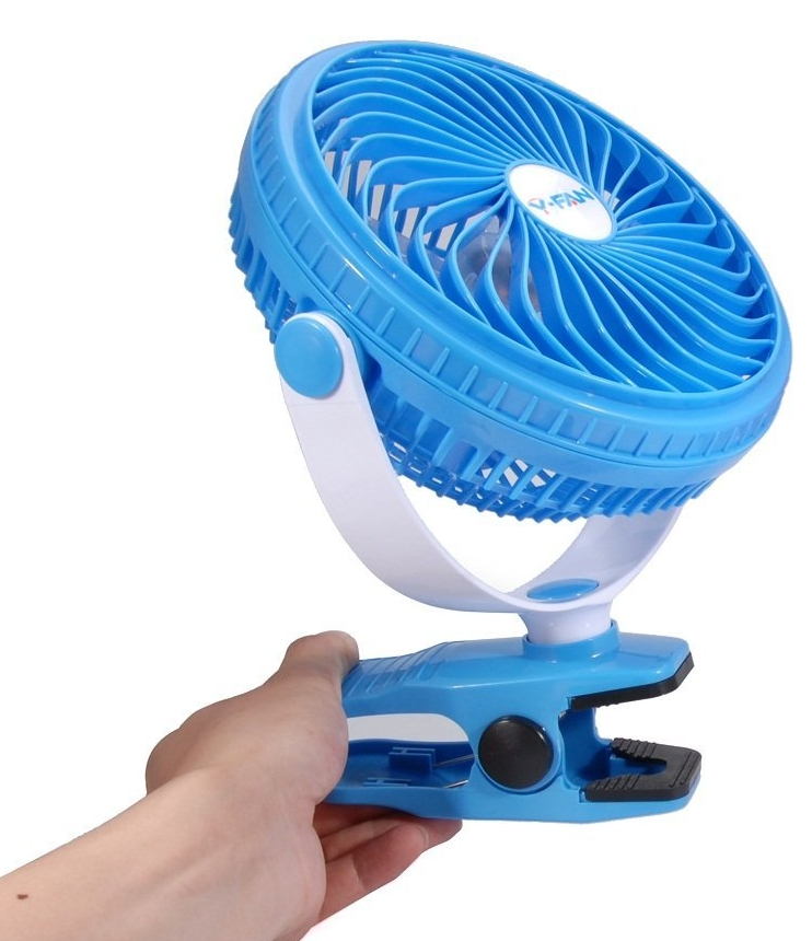 High Velocity Battery Desk Fans Clip on Fan Battery Powered Fan