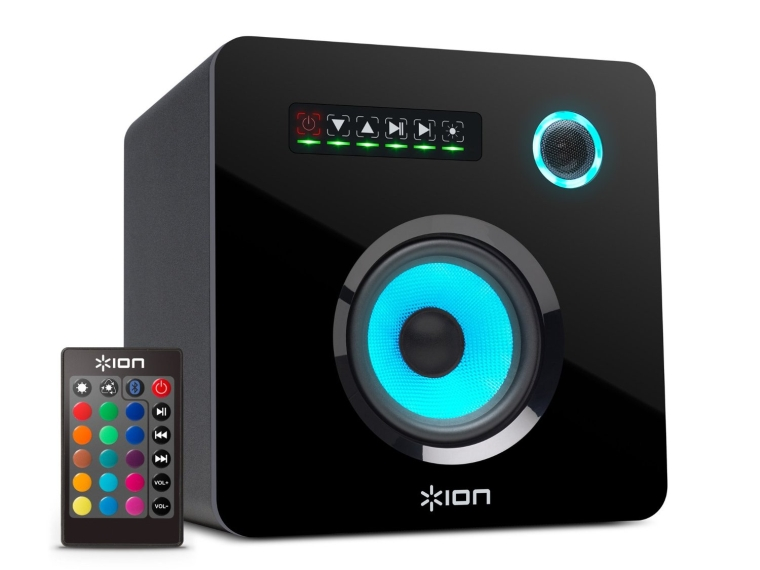 Ion Audio Flash Cube Wireless Bluetooth Speaker with Ambient Lighting
