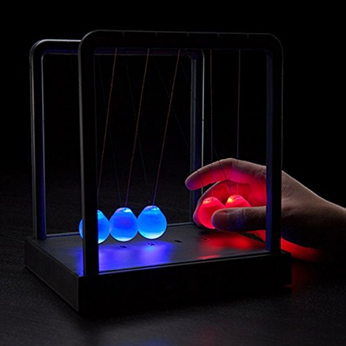 Kinetic Light Newton's Cradle Balance Ball Physics Science