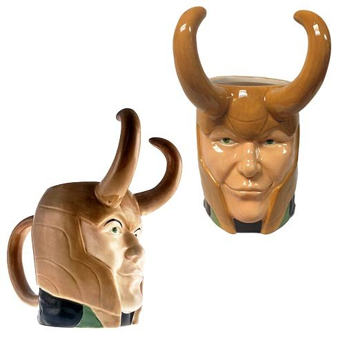 Loki Coffee Mug Ceramic Molded Face Avengers Thor