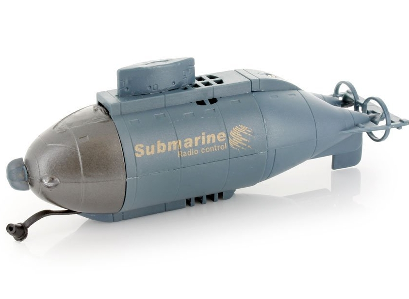 Mini Wireless RC Submarine w Double Propellers & Headlights