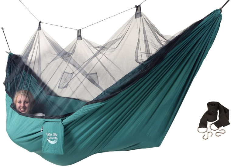 Mosquito Traveler Hammock with Free Tree Straps
