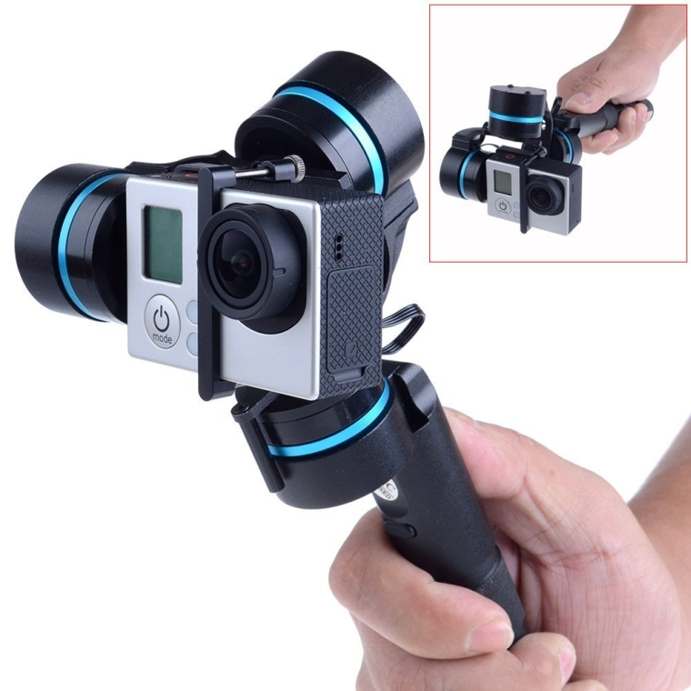 Neewer Feiyu 3-axis Brushless Handheld Gimbal Handle Camera Mount for GoPro 3  3+  4