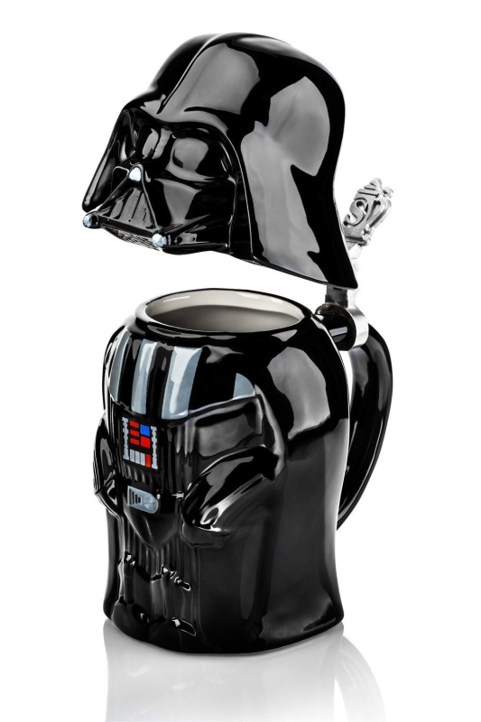 Star Wars Darth Vader Collectible 22oz Ceramic Stein with Metal Hinge