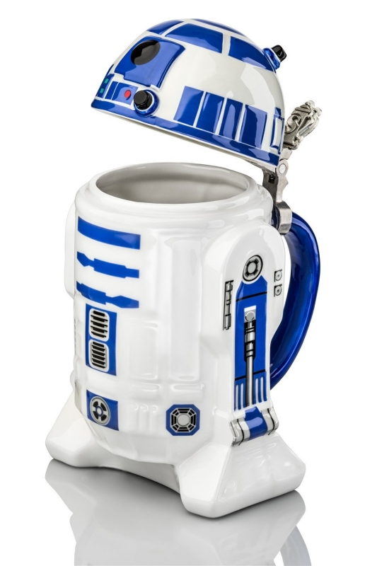 Star Wars R2-D2 Collectible 32oz Ceramic Stein with Metal Hinge