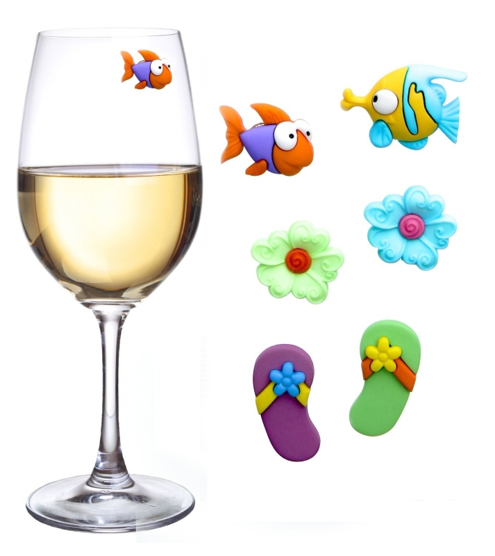 Tropical Paradise Magnetic Wine Charms