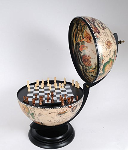White Globe 330 Mm With Chess Holder