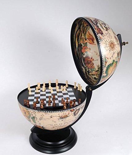 White Globe 330 Mm With Chess Holder