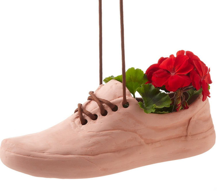 terracotta shoe planter