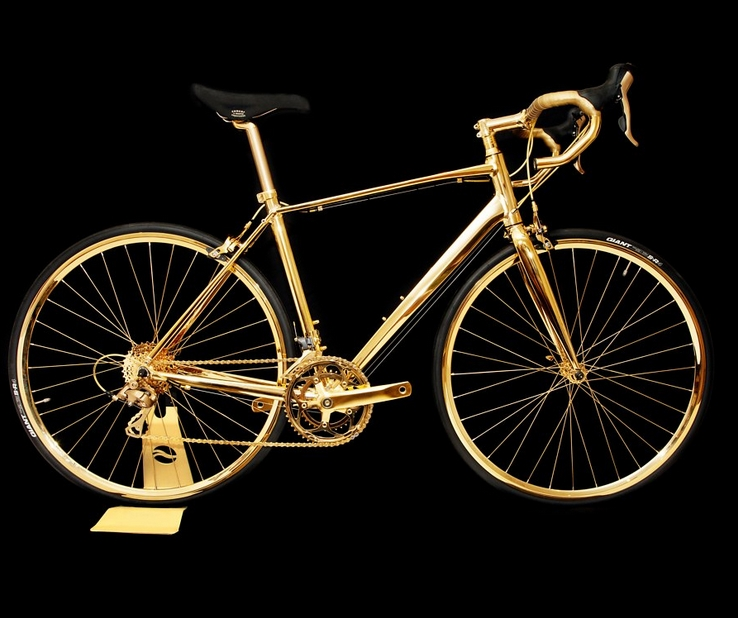 24k Gold Racing Bike