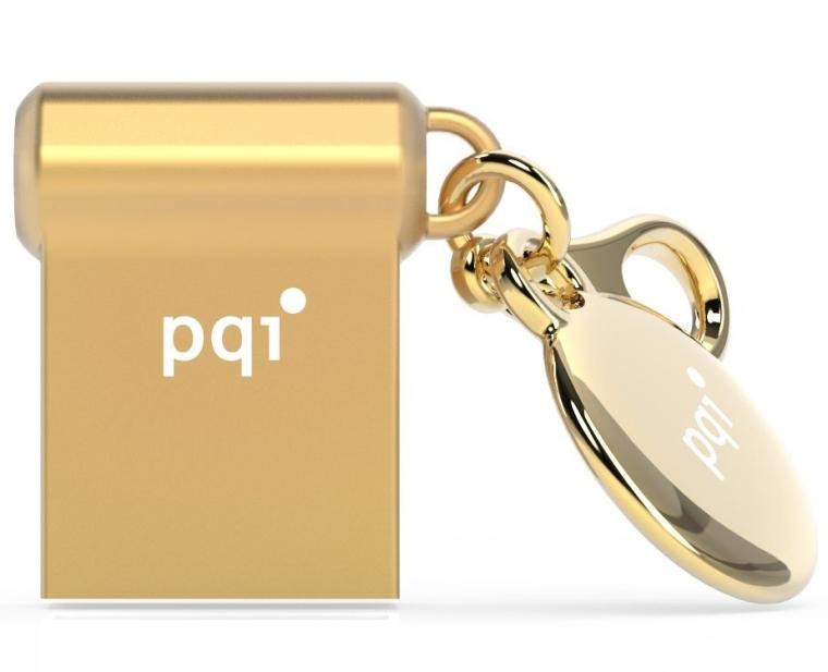 32GB PQI i-mini II USB3.0 Gold USB Flash Drive